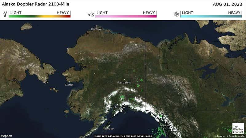 Current precipitation in Alaska.