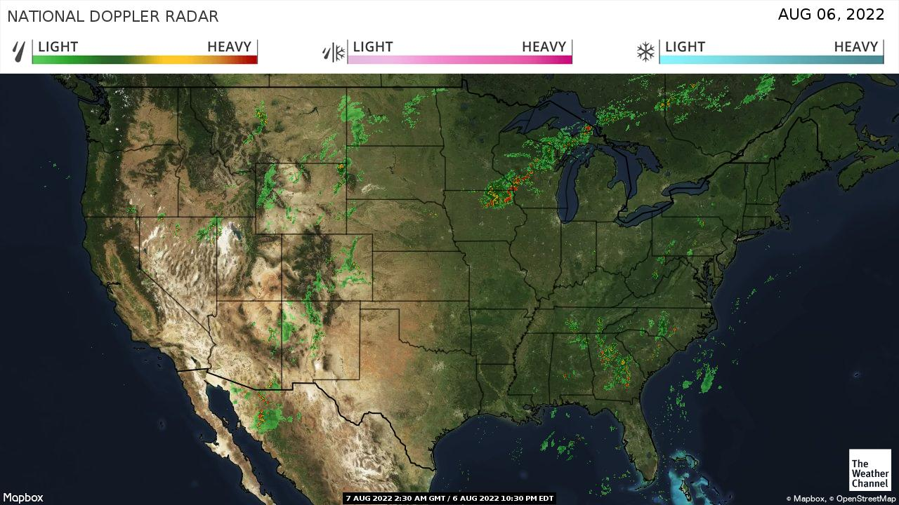 National Forecast And Current Conditions The Weather Channel - Current-weather-us-map