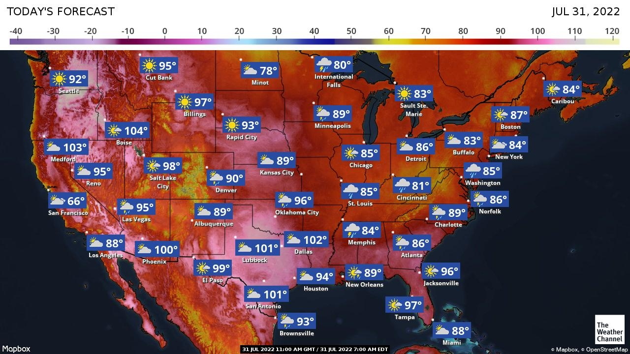 Nationwide Weather Map