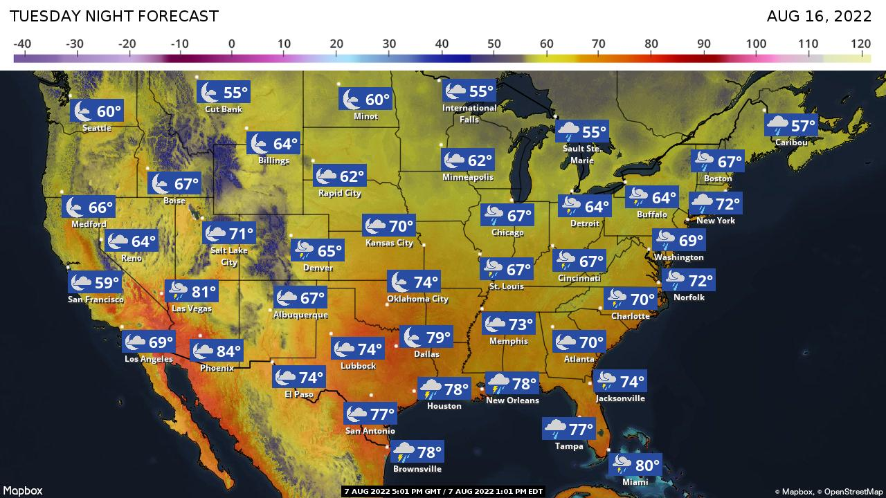 10 day forecast weather map