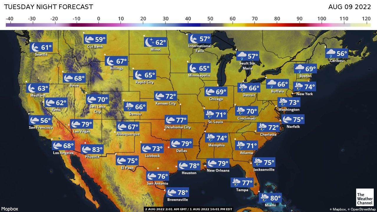 the weather channel map briefing