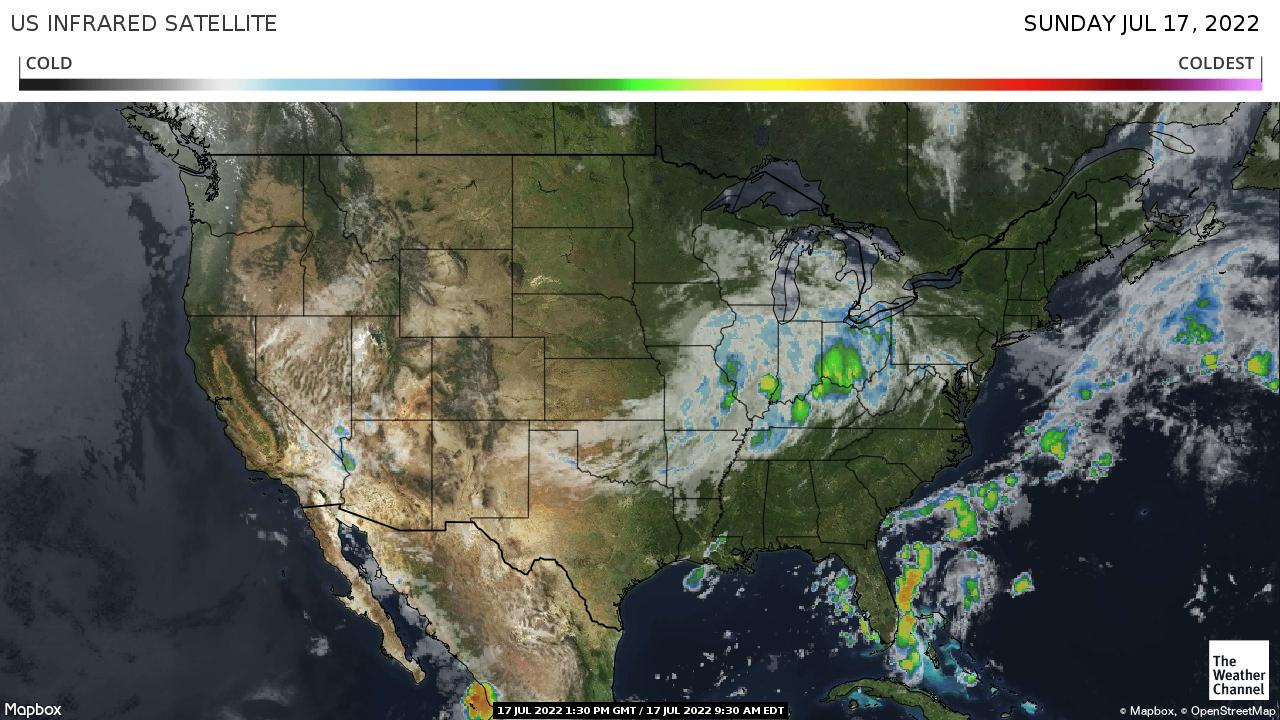 Weather Channel Satellite Infrared