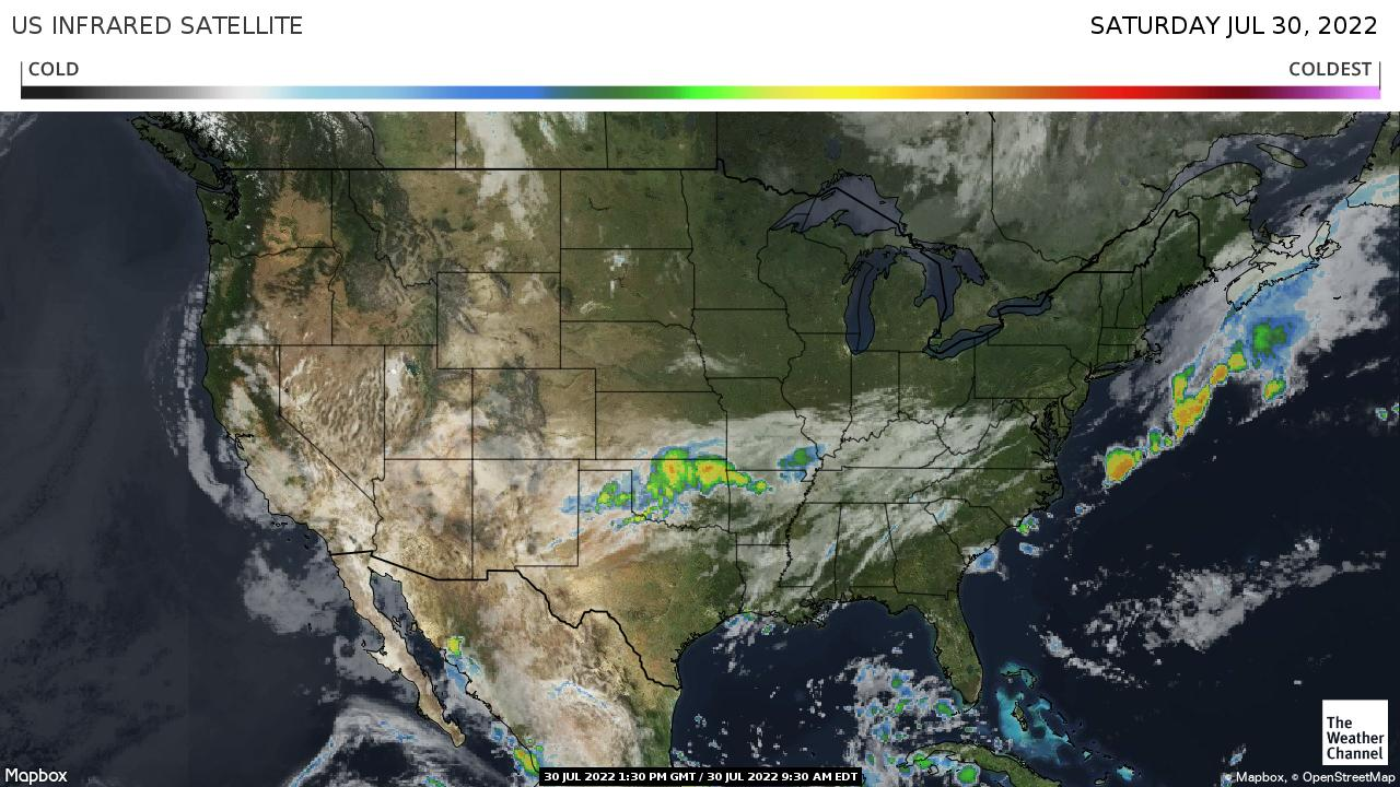 Satellite Weather Map Us.National Forecast And Current Conditions The Weather Channel