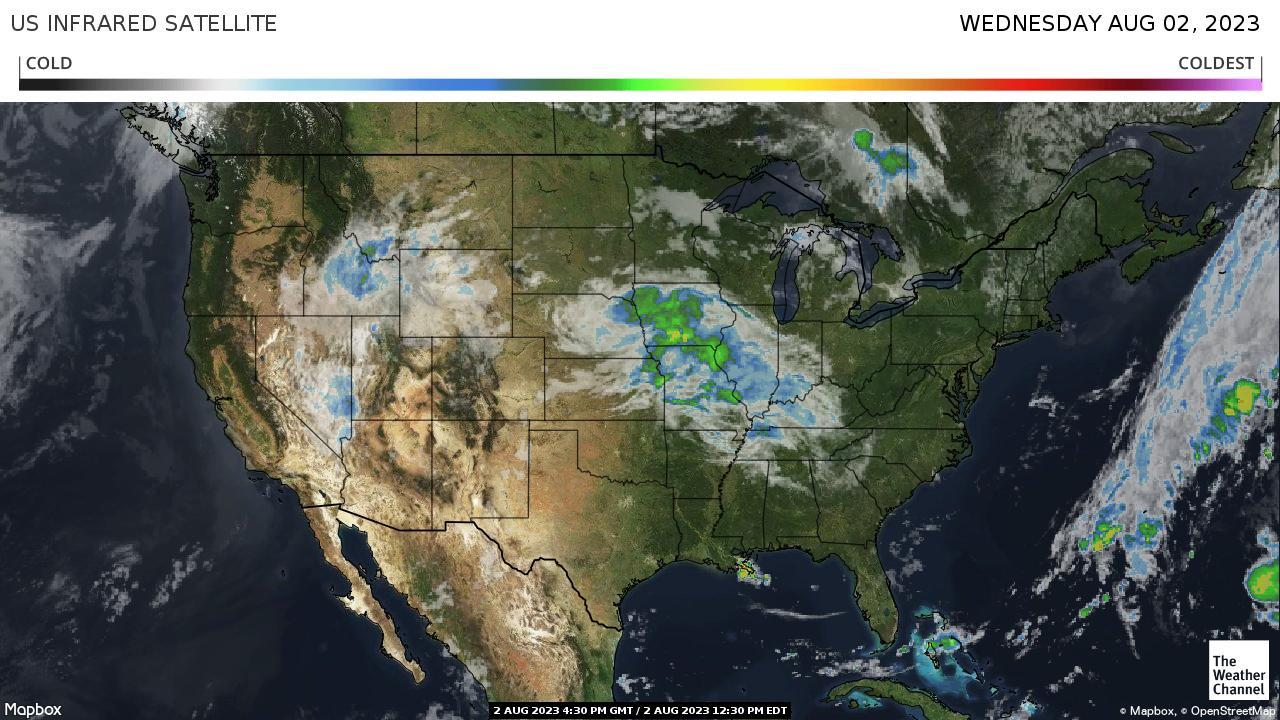 US IR Satellite map
