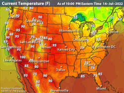 United States Current Temperatures Temperature Maps Weather
