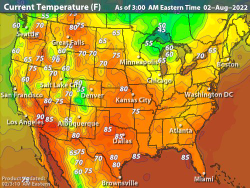 United States Current Temperatures | Temperature Maps ...