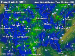 On A Weather Map Wind Speeds Are Related To