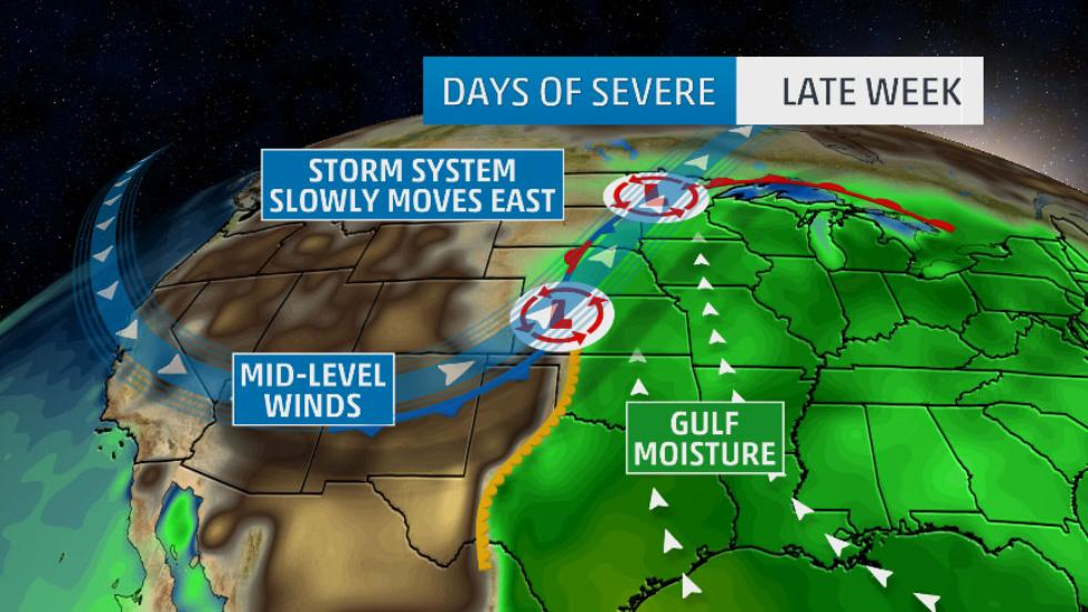 Severe Thunderstorms, Tornadoes Take Aim at the Plains States Again ...