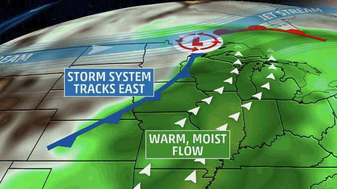 severe thunderstorms  heavy rain threaten midwest again