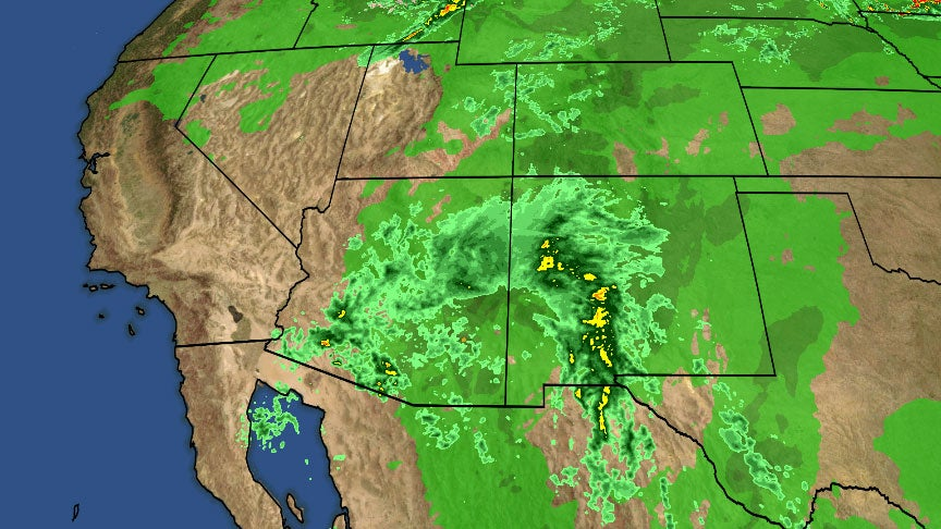 Phoenix Weather Map In Motion.Moisture From The Remnants Of Bud Is Spreading Needed Rainfall Into