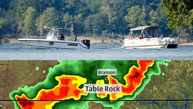 how missouri duck boat tragedy unfolded timeline of weather watches rh w3livenews com table rock lake weather forecast Table Rock Lake Map