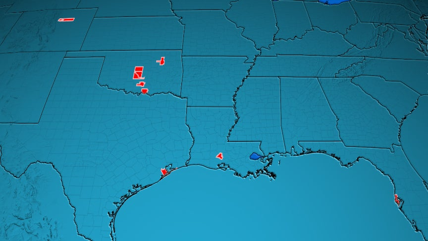 The Most Tornado Prone Counties In The U S The Weather Channel