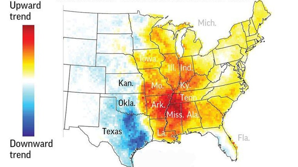 Scientists Stumped by Apparent Eastward Migration of Tornadic Activity