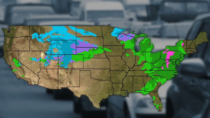 Post Thanksgiving 2018 Travel Weather Forecast Wet Wintry