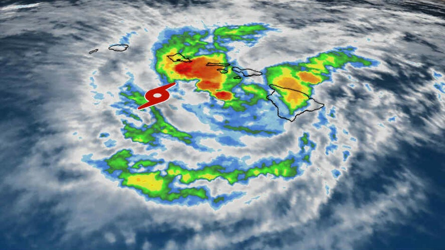 tropical storm lane now a big rainmaker for the hawaiian