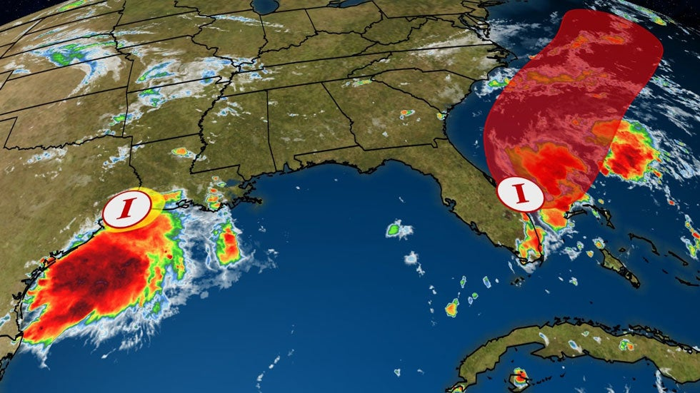 Two Invests to Bring Heavy Rain to the Southeast