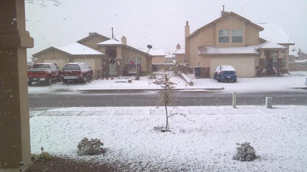 west texas snow images captured on social media