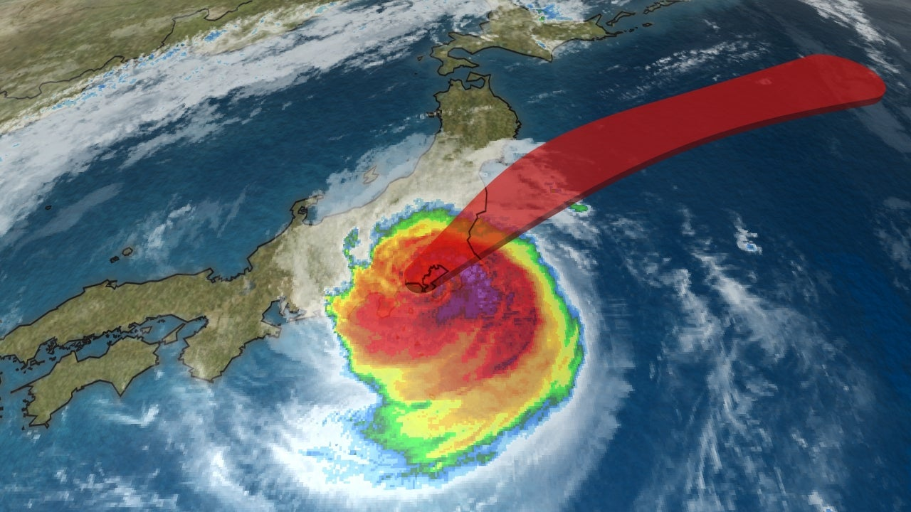 in japan  typhoon faxai damages homes  disrupts travel