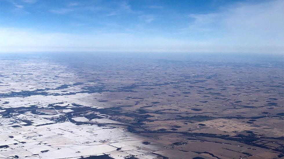 Sharp Edge Of Winter Storm Uma S Snow Cover In Indiana