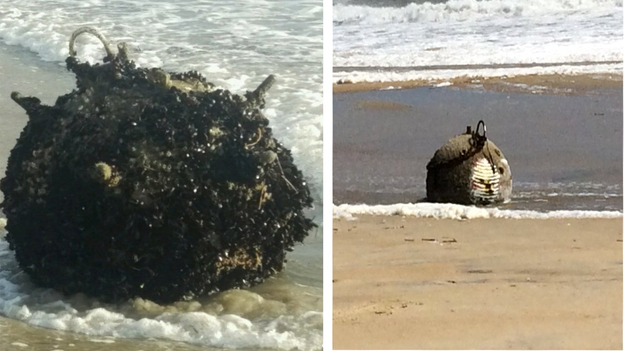 ordnance found washed up on outer banks beaches as