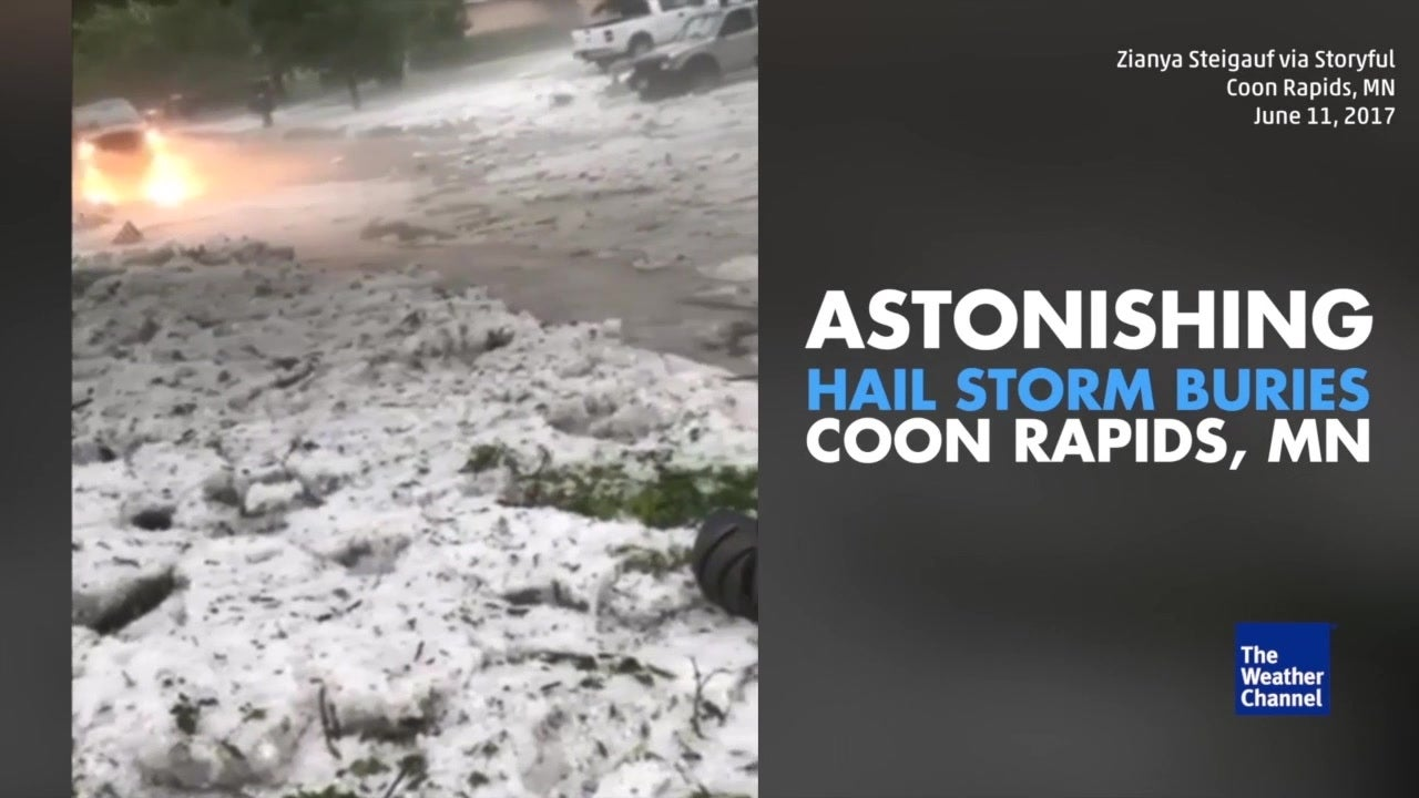 Astonishing storm buries city in hail