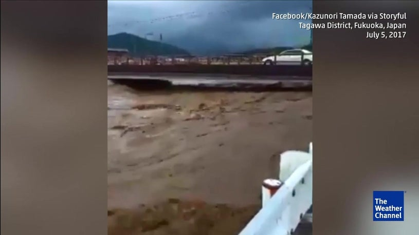 Homes, Schools Swept Away in Kyushu