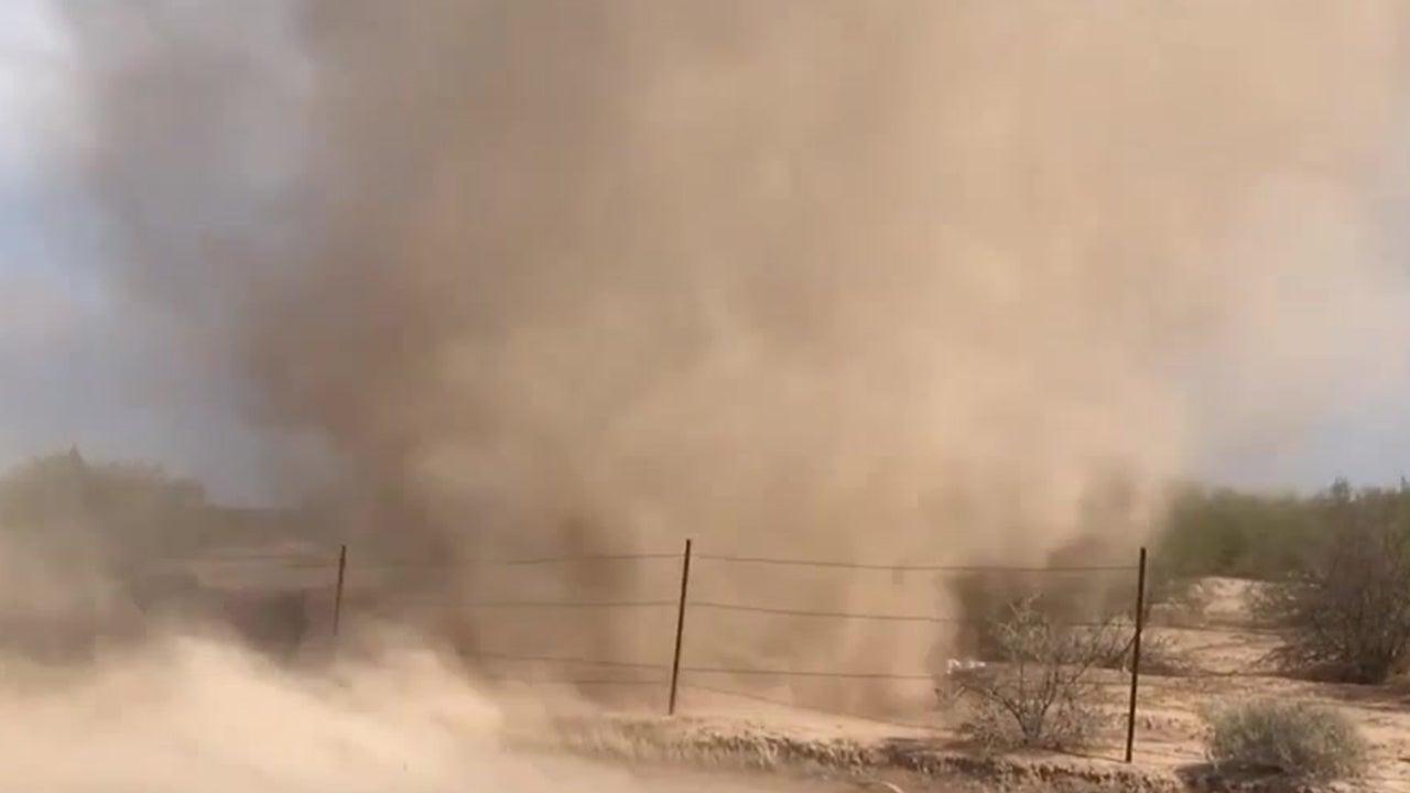 Inside View of an Arizona Dust Devil