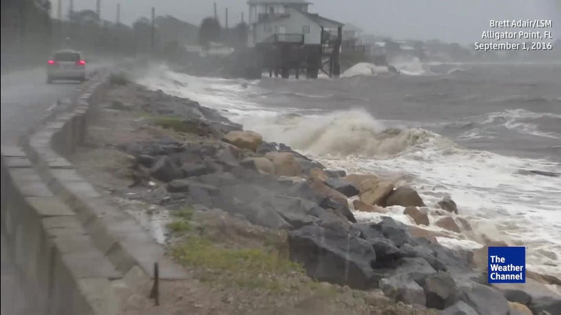 Storm Surge Washes Out FL Road