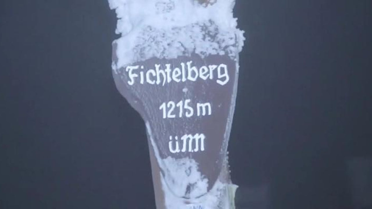 Schneesturm am Fichtelberg