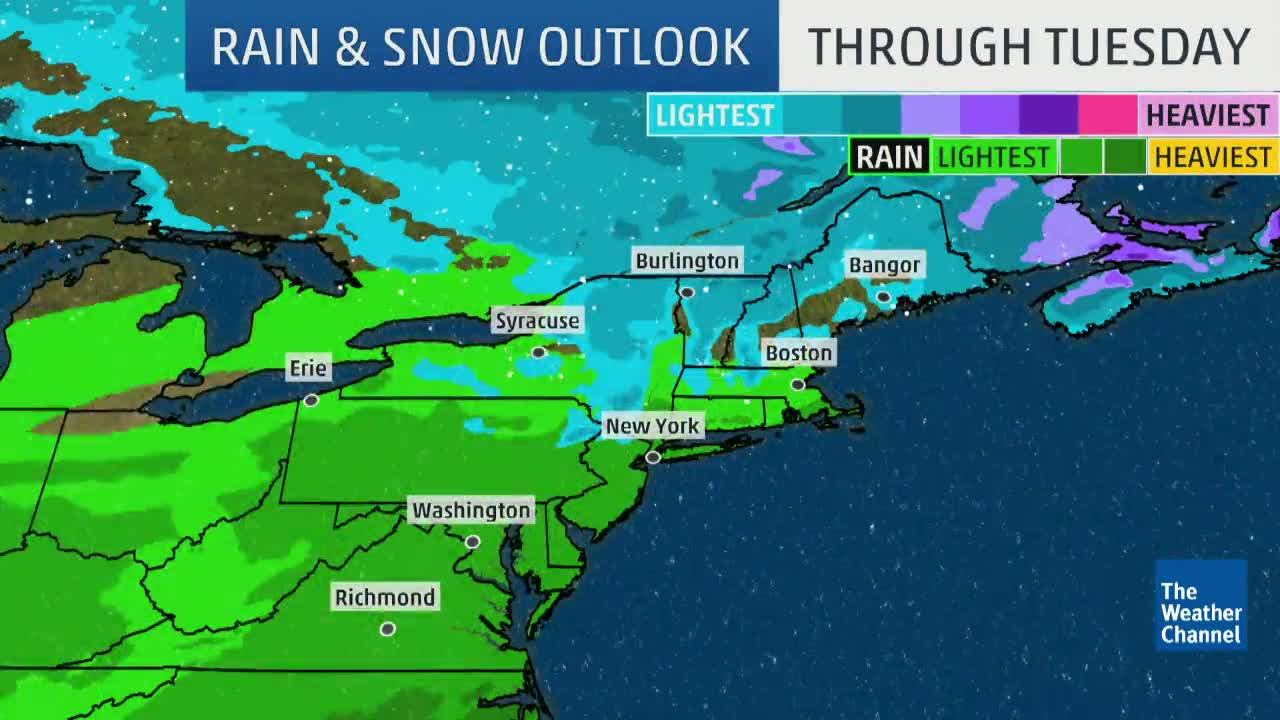 Potential Snow For Northeast Late This Weekend
