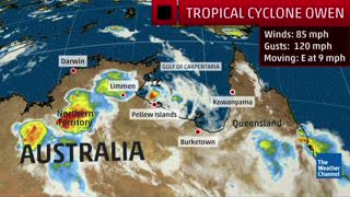 Tropical Cyclone Owen Brings Heavy Rain to Northern Australia