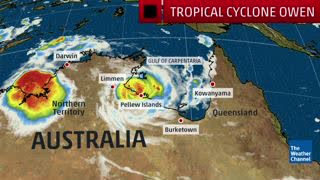 Tropical Cyclone Owen Drenches Northern Australia