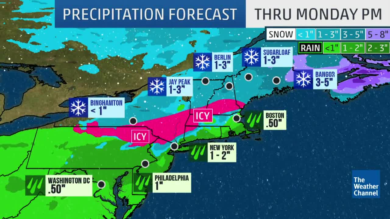 Tracking Rain, Snow and Ice for the Northeast