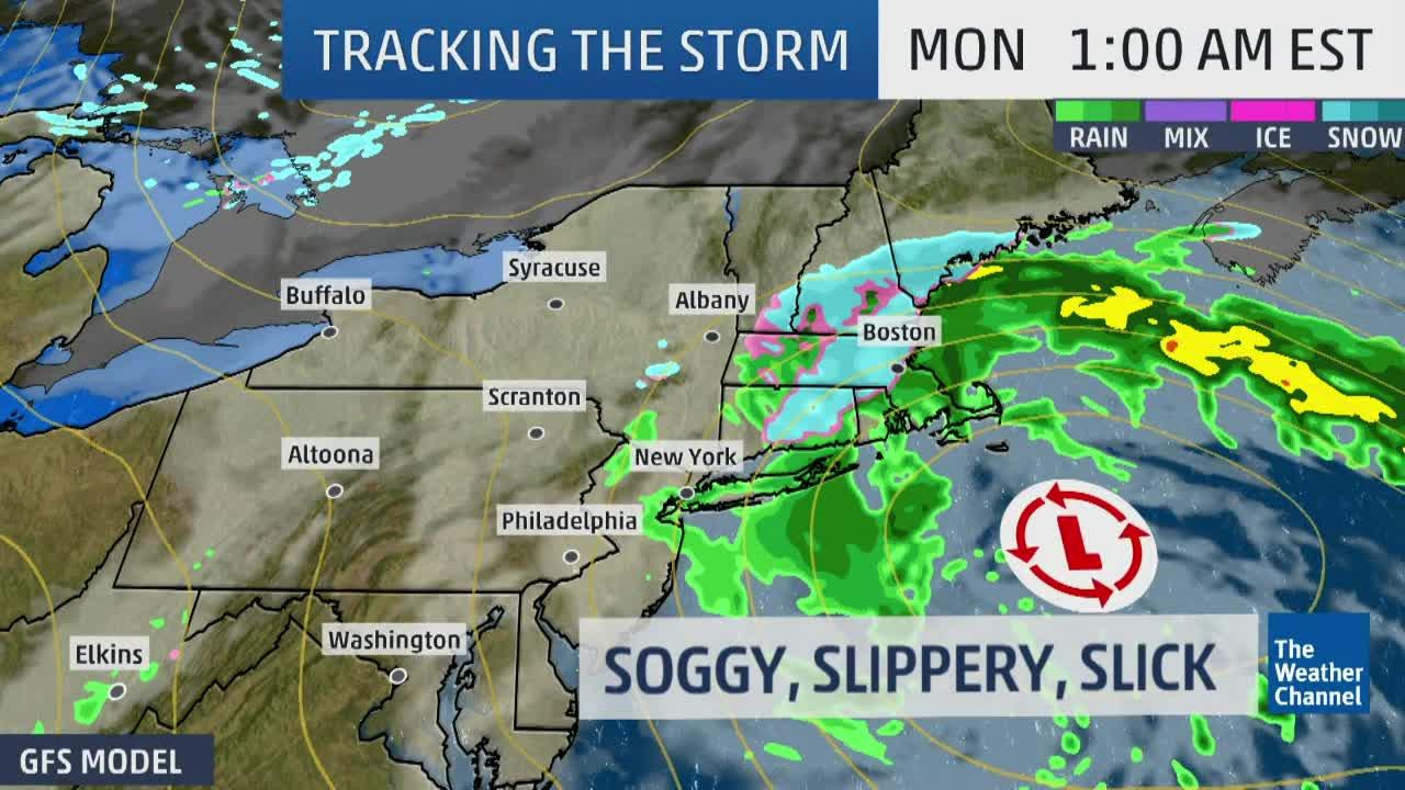 Rain, Ice, Sleet Moving Through Northeast