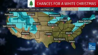Where to Expect a White Christmas