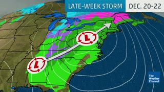 Late-Week Storm May Cause Delays For Pre-Christmas Travelers