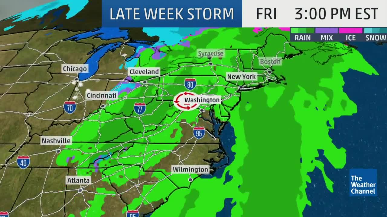 Pre-Christmas Travel Delays in the East Possible Due to Late-Week Storm