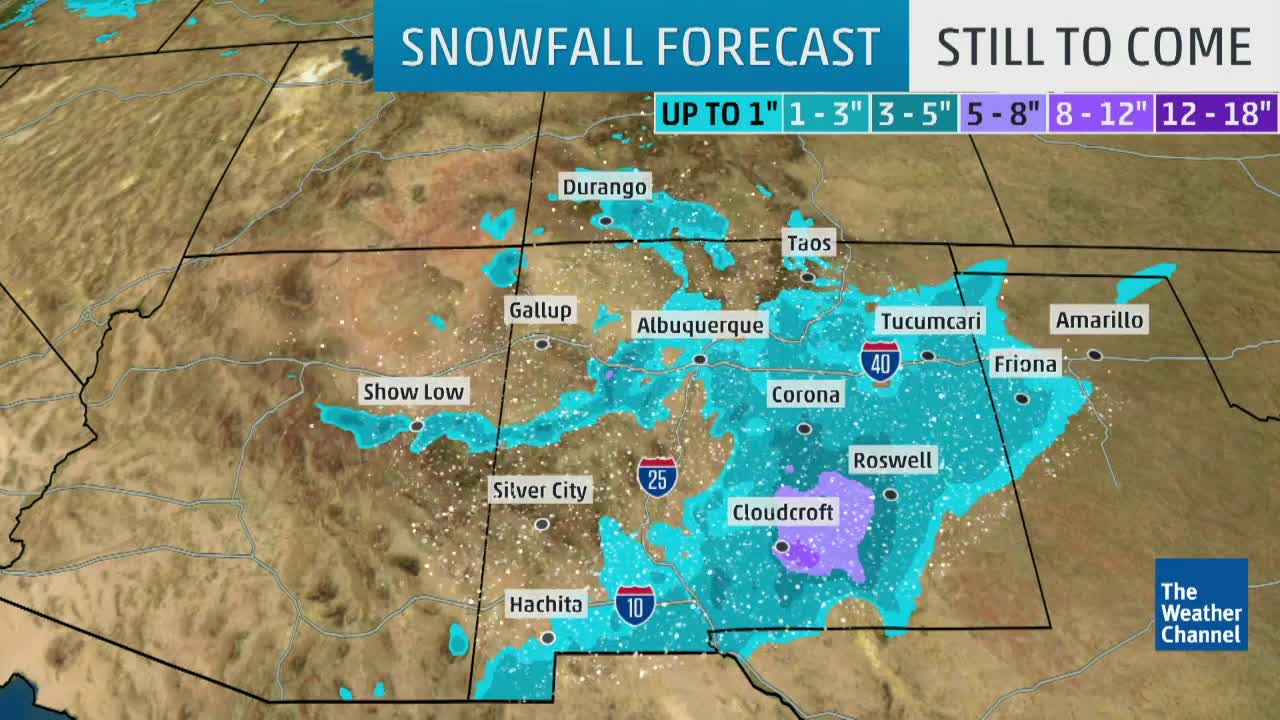System Bringing Snow to Parts of Southwest
