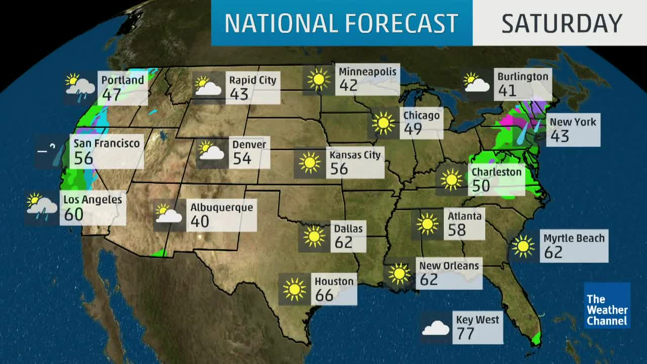 Today National Weather Map.National Forecast The Weather Channel