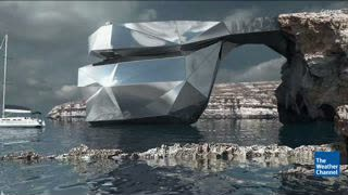 Malta's Azure Window Could be Replaced by Mirrored Metal Arch