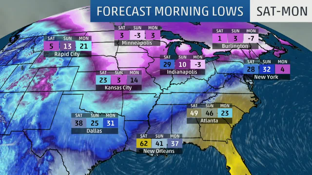 Dangerous Dip in Temperatures for Much of the Lower 48