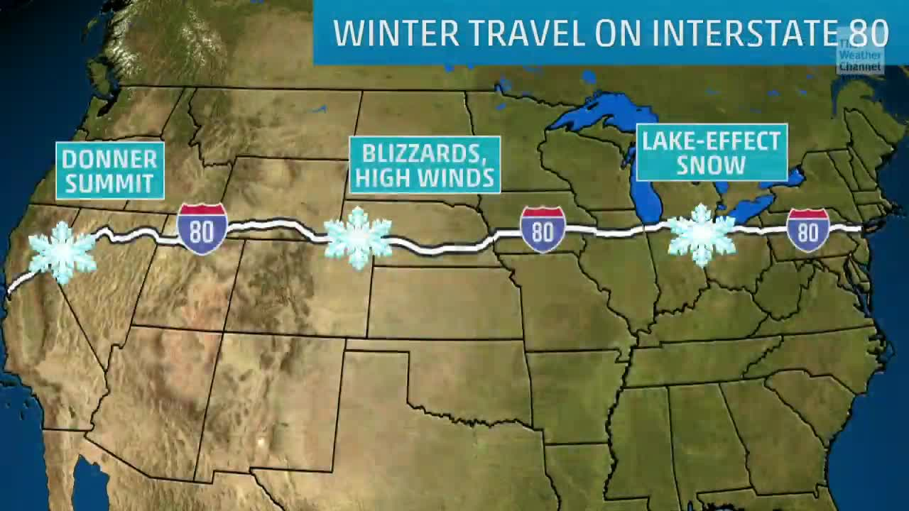 Interstate Travel Weather Map.Why Interstate 80 Could Be One Of The Most Hazardous Interstates For