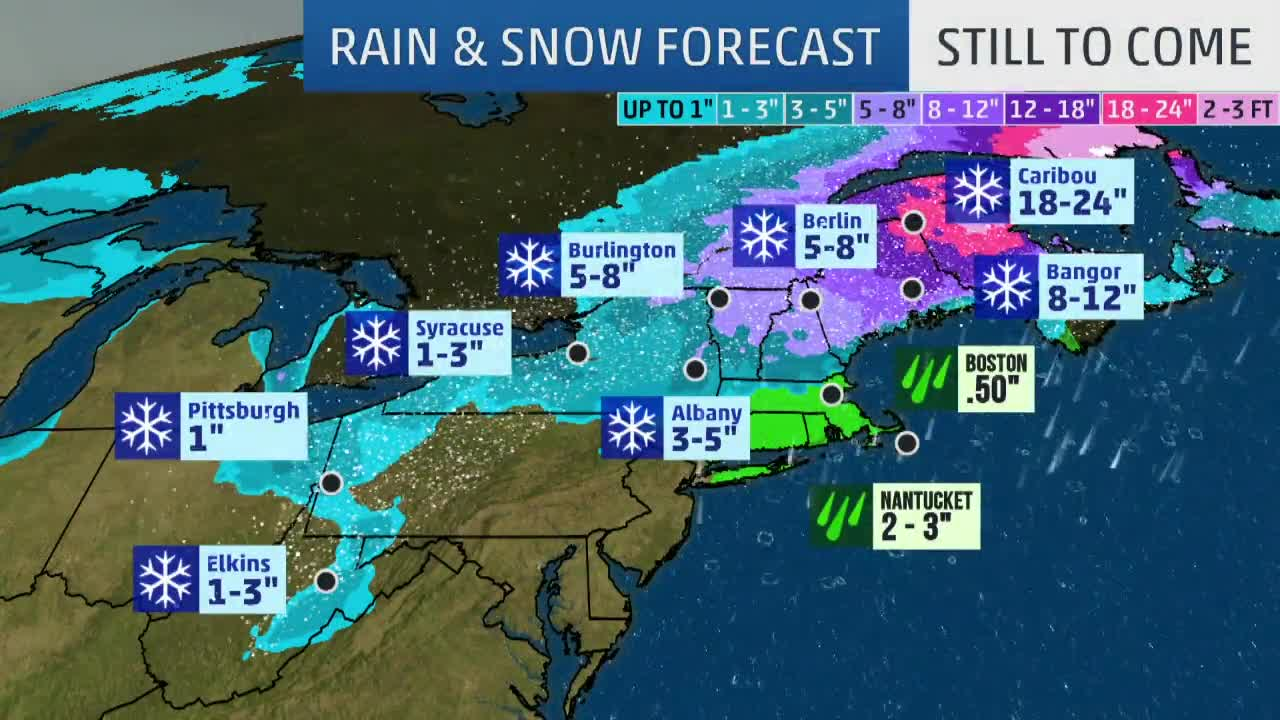 Winter Storm Harper Producing Heavy Snow in New England