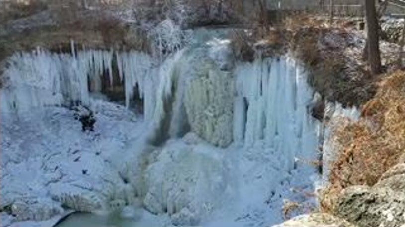Minnesota's Minnehaha Falls Still a Few Degrees From Frozen