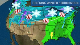 Winter Storm Indra Set to Move Across Country