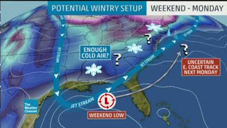 Blast of Cold and Precipitation Creates Deep South Snow Threat This Weekend