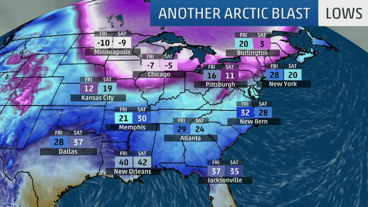 Cold Air Continues This Week: Where Will it Get the Coldest?