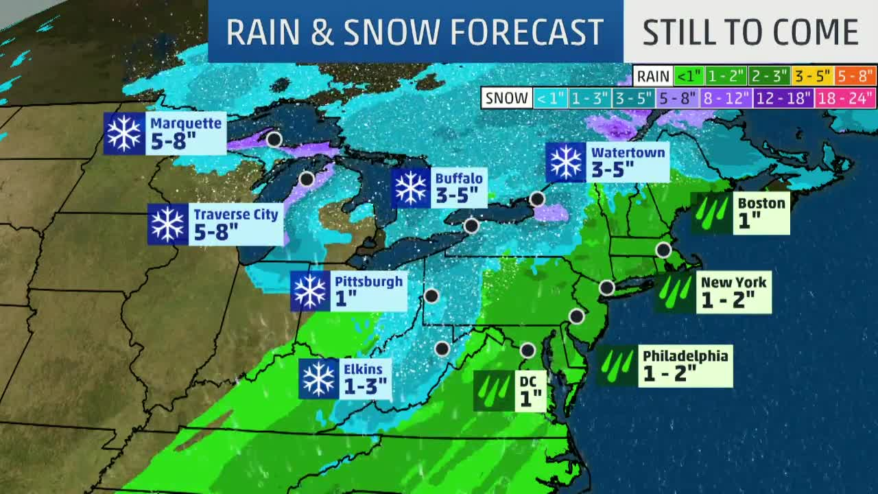Winter Storm Indra is Becoming More of a Rain Problem for Northeast