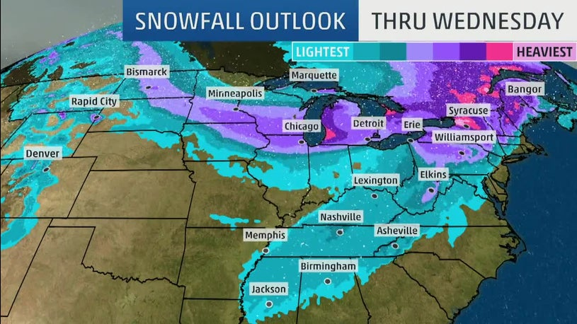 A new state means a new blizzard for a wide area of the country.