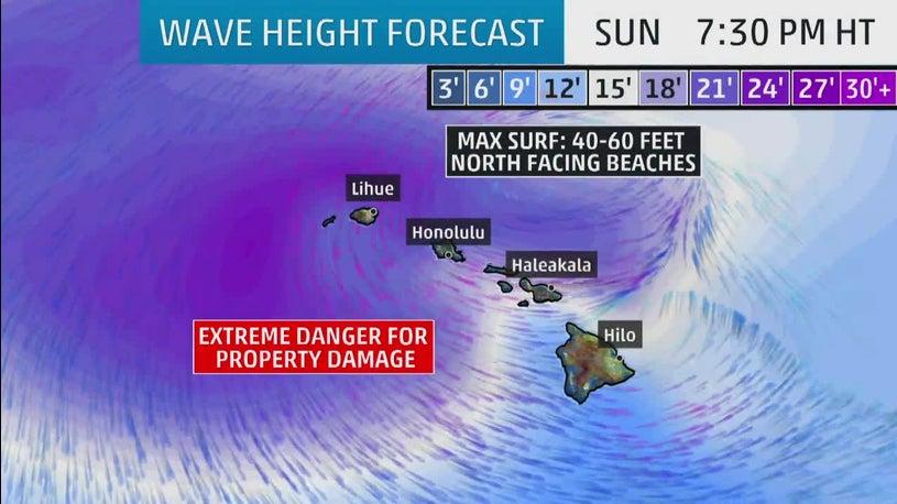Intense Hawaii Storm Churns Surf